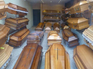 caskets - people who died from coronavirus
