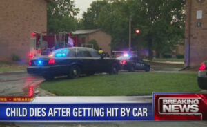child hit by car